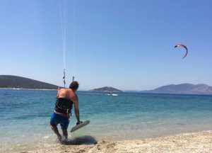 kiteboarding lessons in Greece Evia Island