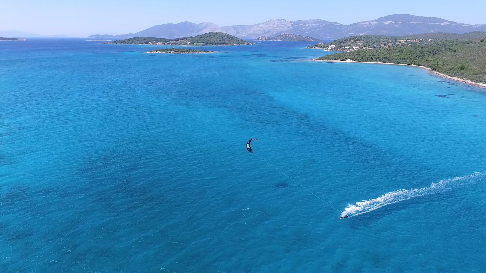kitesurfing cruise Greece Evia Island