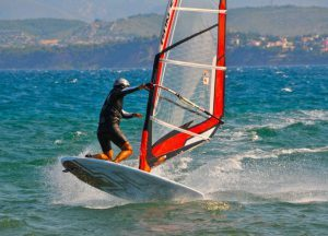 windsurfing lessons in Greece Evia Island