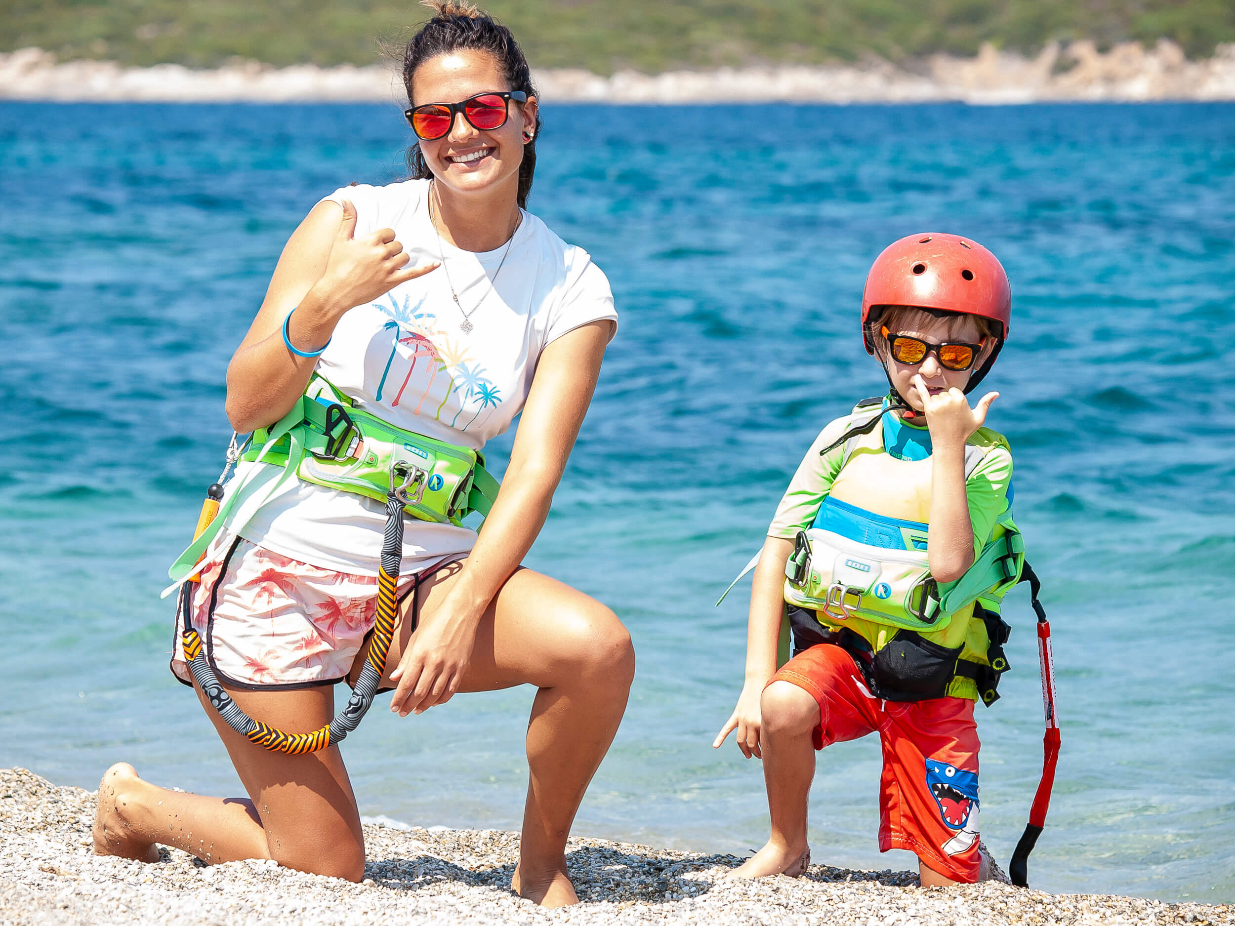 Childrens kitesurfing lessons in Greece Evia Island