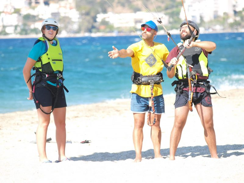 beginner kitesurfing lessons in Greece Evia Island