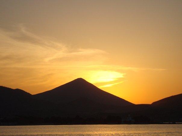 sunsets in Greece Evia Island