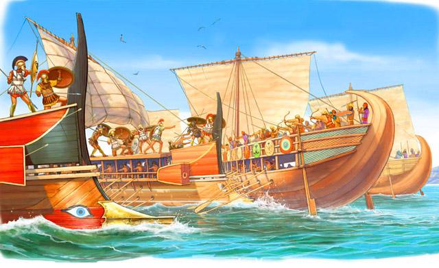 ancient greeks on Evia Island