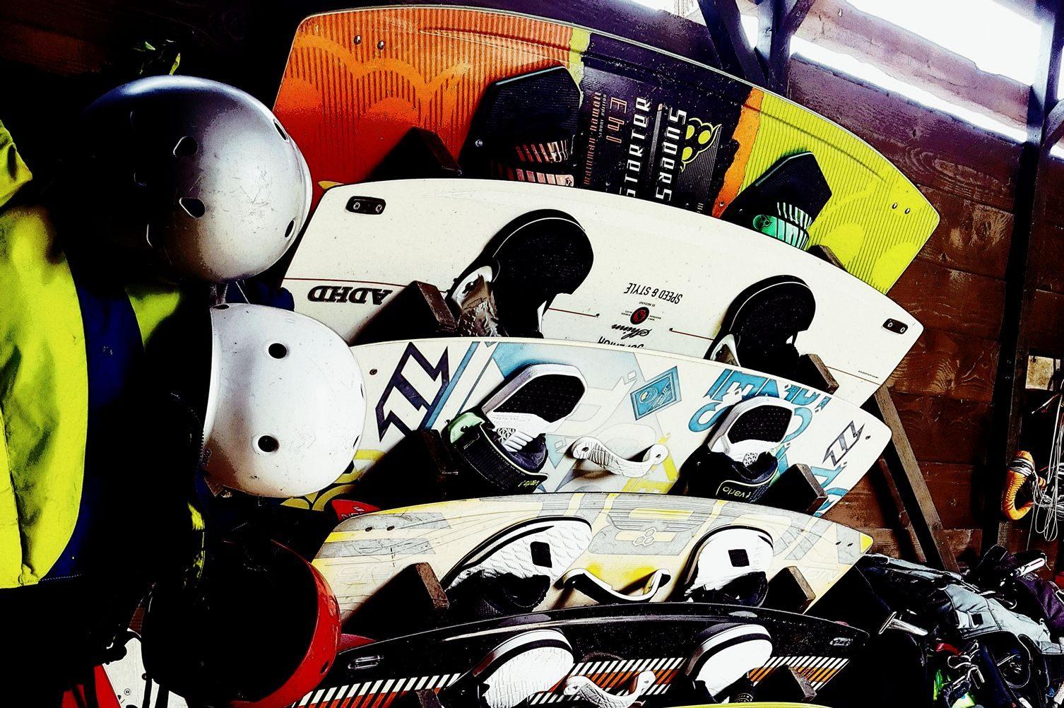 Lefkadi surf club equipment storage