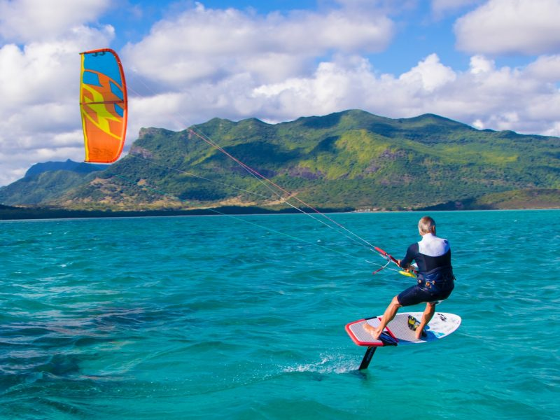 Learn kitesurfing foiling in Greece