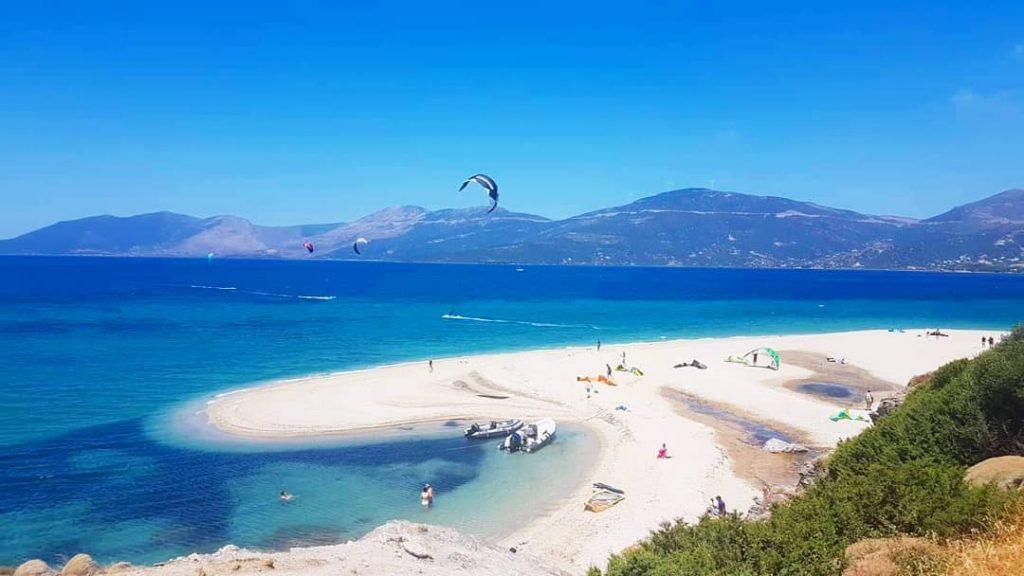 Kitesurfing in Greece Evia Island