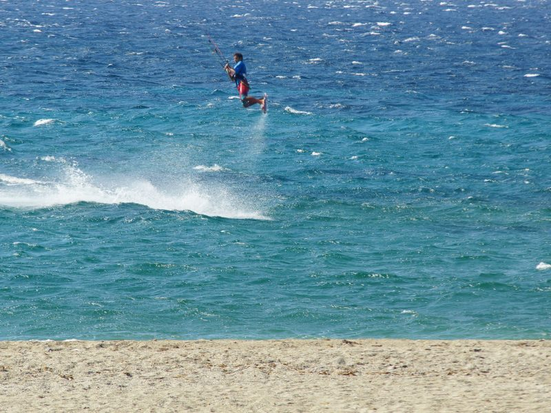 kitesurfing jumping greece